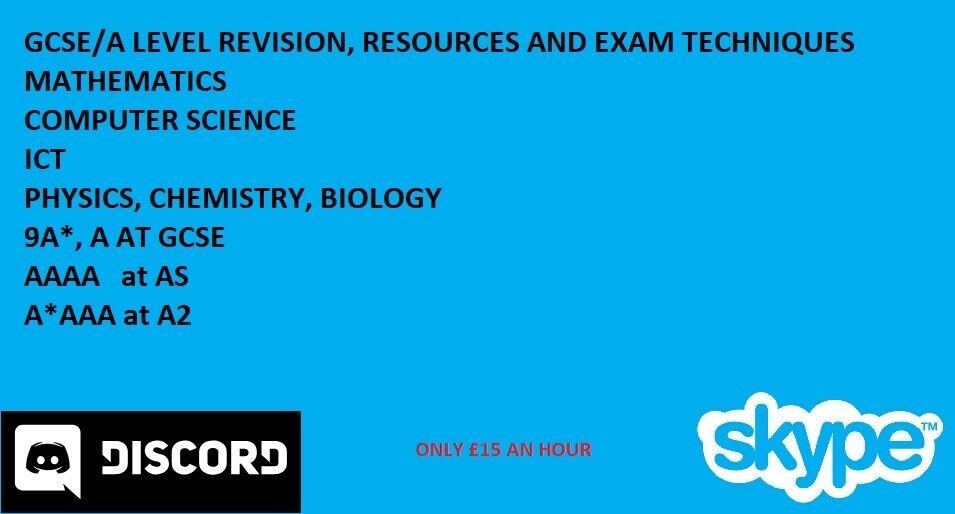 GCSE A Level Private Online Tutor For Mathematics Sciences Computing And More