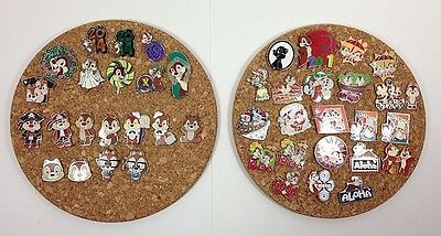 43 Disney Pins Lot Chip and Dale Collection