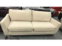 Light beige / cream Fabric 3 seater sofa
