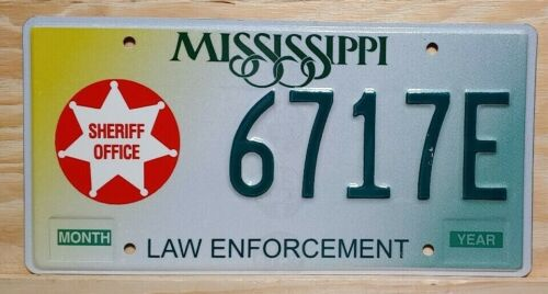 "MISSISSIPPI ""LAW ENFORCEMENT"" SHERIFF OFFICE LICENSE PLATE (GRAPHIC, SPECIALTY)"
