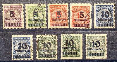 Deutsches Reich Inflation Nr. 332-337 A + B komplett  gestempelt
