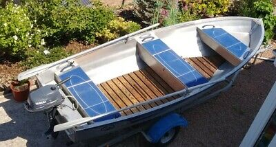 Linder Fishing 440. 14 ft aluminium fishing boat with 4HP Yamaha & Snipe trailer