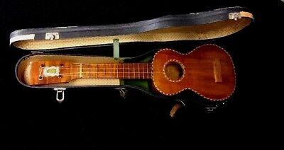 Vintage Antique Kamaka Deluxe 1930's Koa Wood Soprano Ukulele Martin Strings for sale  Zionsville