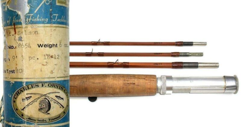 Orvis bamboo fly rod ebay for Vintage fishing rod identification