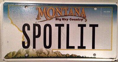 MT vanity SPOTLIGHT license plate Stardom Celebrity Star TV Media Famous Actress