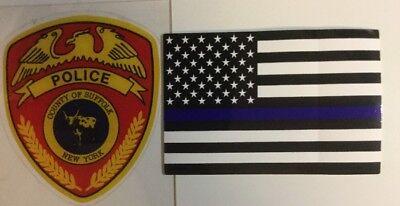 Appreciation Sale Suffolk County Police InW/shield Decal+1F-B-Line B Stick*Other