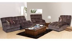 Lounge suite - recliner lounge, recliner armchair and chaise South Plympton Marion Area Preview
