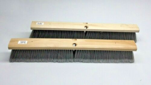 """Carlisle 4501423 Sweep Head 24"""" Flo-Pac Gray Fine (Pack of 2) Flagged Polyprop"""