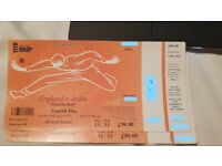 2 x England v India fourth day 12th august 2018 grand stand tickets
