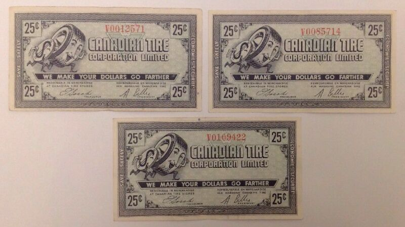 1962 CTC-25c-7 -E 1-V  EF Lot Of 3 Note Free Combined a28