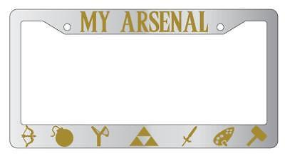 I Am A Proud Hylian Chrome METAL License Plate Frame Legend Of Zelda