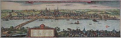 Mainz - Großes Gesamtpanorama - Wahre Bildnuß der Statt Maintz ... - Merian 1646