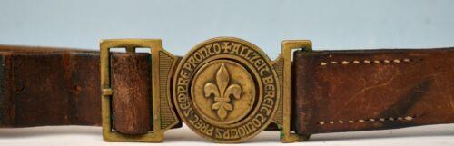 Swiss Boy Scout Belt & Brass Buckle Sempre Pronto 1953