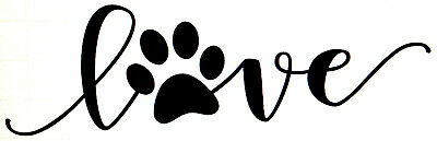 Paw Print Decals (Vinyl Car Decal Love Paw Print Pet Rescue Dog Cat Puppy Sticker Fur Kid Sticker)