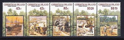 Christmas Island 1991 Phosphate Mining Lease Centenary - strip of 5 ()