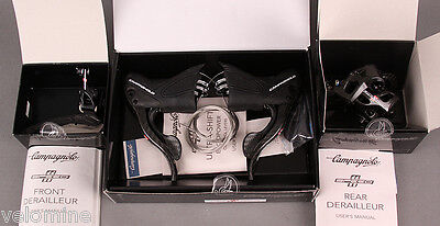 2015 Campagnolo Super Record 11 Speed 3 pc Group Shifters front rear Derailleur