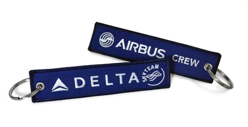 Delta-Airbus Crew Keyrings x2