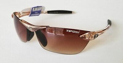 TIFOSI Seek Sunglasses - Crystal Brown - Brown Gradient Lens + Hard Case Crystal Brown Gradient Sunglasses