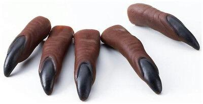 10 Werwolf Klauen zum Aufstecken Finger Krallen Nägel - Werwolf Kostüm Zubehör