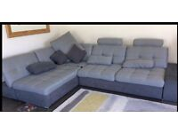 Large left-hand corner sofa bed
