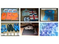 swimwear, 2 piece suits, arm bands (some new) swim shoes and towels