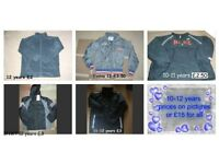 boys coats 10-12 years prices on pictures or £15 the lot collection from didcot