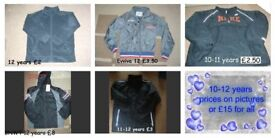 boys coats 10-12 years prices on pictures or £15 the lot