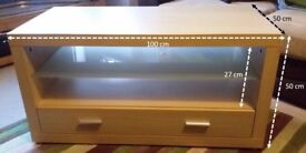 Contemporary TV/media stand and coffee table pair