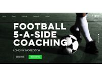 Football 5-a-side coaching for adults (beginner/intermediate)