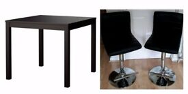New Ikea Black Bjursta Bar Table & 2 Bar Stools FREE DELIVERY 849