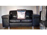 Contemporary Black Leather Sofas