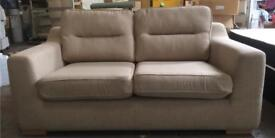 Lovely beige fabric 2 seater sofa DELIVERY AVAILABLE