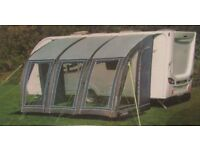 FIXED PRICE ONLY NO OFFERS - BRAND NEW NEVER USED 3/4 SIZE CARAVAN AIR AWNING + CARPET WORTH £450