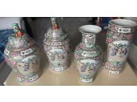 Chinese oriental vase, ornaments, umbrella stand