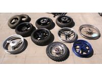 Motorcycle Moped Wheels Some Tyres Some NOS Lot