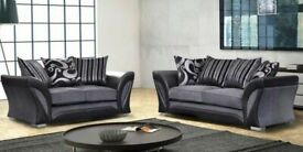 ☀️☀️Same Day Fast Delivery☀️☀️-SHANNON SOFA FABRIC & FAUX LEATHER LEFT / RIGHT CORNER/3+2 SEATER-
