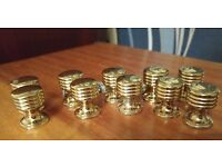 Solid Brass cupboard knobs
