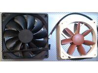 Noctua 120 mm Corsair 140 mm quiet Desktop PC fans, like new. 15 for both