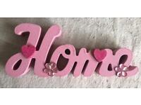 Hand decorated home signs