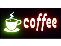 SALE *** Multi Display Neon Coffee Sign Fast Food Take Away Restaurant Cafe Shop Signs £29.99