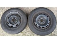 2 spare wheels and tyres - Ford Fiesta