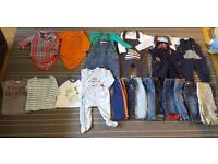 Baby boy clothes bundle 3-6 in good clean condition from smoke and pet free home