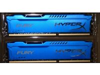 Kingston 16GB 1866MHz DDR3 CL10 DIMM (Kit of 2) HyperX FURY Blue