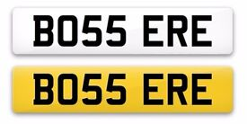 Cherished Number Plate BO55 ERE