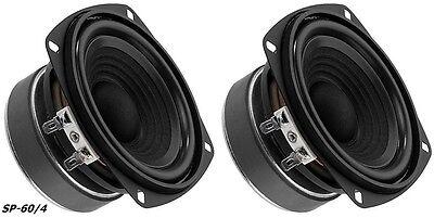 "2 Stück Monacor SP-60/4 Hifi Bass 100mm 4"" Bassmitteltöner 10cm  (2 Stück)"
