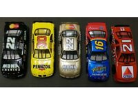 5 x 1:24 SCALE STOCK NASCAR DIECAST MODELS LIMITED EDITION