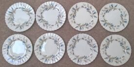 Royal Albert - Brigadoon – Thistle design - Bone China – 8 x 16cm Side Plates