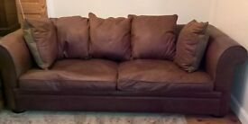 Large Italian Leather settee