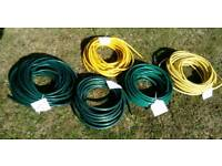 Hose pipe. A selection of hose pipes. Garden watering.