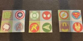 Marvel bedroom canvases